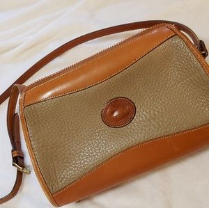 Vintage Dooney & Bourke crossbody satchel bag tan